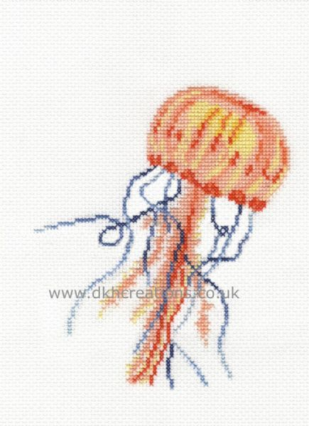 Gentle Jellyfish Hoop Cross Stitch Kit